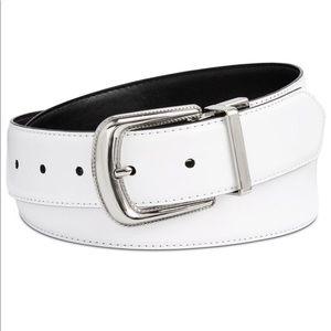 Calvin Klein Leather Rev. Western Buckle Belt-Sz L
